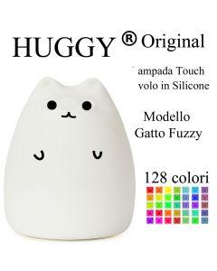 Huggy Led Gatto Fuzzy Multicolore Ricaricabile Cromoterapia Luce Notte Bambini