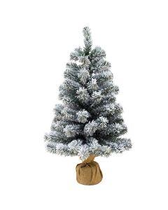 Albero di Natale Pinetto Innevato Del Nord 90 cm Piccolo molto bello realistico