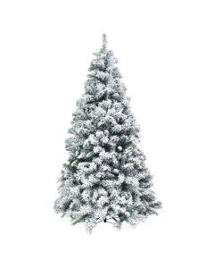 Albero di Natale Abete Innevato Alaska h 150cm 894 rami Effetto realistico