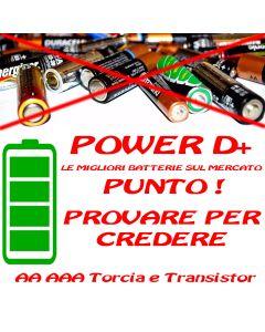 Pile Batterie Power D+ AA LR06 LR03 AAA Torcia Le migliori sul mercato