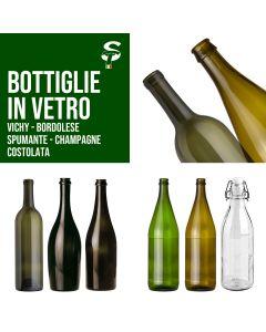 Bottiglie Vino Spumante Champagne Acqua Varie Misure