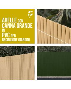 Canniccio Arella doppia PVC recinzioni giardino vari colori e misure STI