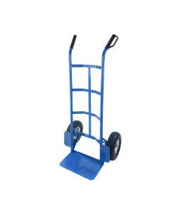 Carrello Porta Pacchi 200 kg porta casse ruote pneumatiche Acciaio Blu
