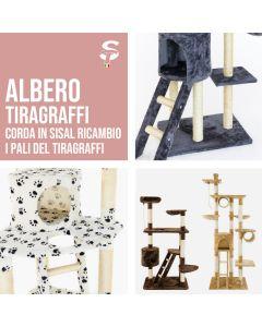 Albero Tiragraffi per Gatti parco giochi palestra gatto vari modelli e misure
