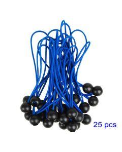 Elastici 25 pz con sfera Blu 300mm fissaggio tende teloni cartelli alta qualità