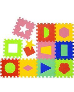 Tappeto Puzzle Eva forme geometriche Tappetino Gioco bambini set 30x30 1cm 9pcs