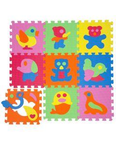 Tappeto Puzzle Eva forme Animali Tappetino Gioco bambini set 30x30 1cm 9pcs TOP