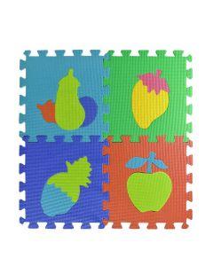 Tappeto Puzzle Eva forme Frutta Tappetino Gioco bambini set 30x30 1cm 9pcs TOP