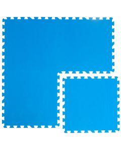Tappeto Puzzle Eva Blu Tappetino Piscina Gioco Casa Palestra set 50x50 0.4 24pcs 6 mq