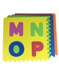 Tappeto Puzzle Eva Lettere e Numeri Tappetino Gioco bambini set 60x60 1cm 9pcs  sp.1cm