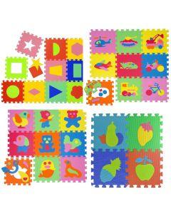 Tappeto Puzzle Eva forme multiple Tappetino Gioco bambini set 30x30 1cm 36pcs  sp.1cm