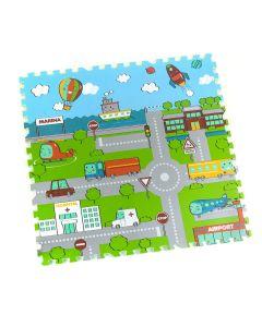 Tappeto Puzzle Eva Mappa Tappetino Gioco bambini set 30x30 1cm 9pcs TOP