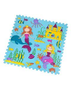 Tappeto Puzzle Eva Sirena Tappetino Gioco bambini set 30x30 1cm 9pcs TOP