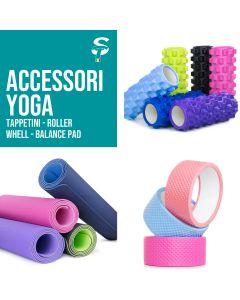 Tappetini e strumenti Fitness per Yoga Pilates , Roller Wheel Benessere e Sport