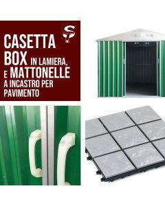 STI Garage Casetta Box in lamiera zincata varie misure alta qualità