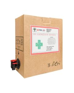 STI Gel Lavamani Igienizzante a base alcolica 75% Senza Acqua Tanica Ricarica 3lt easyspill