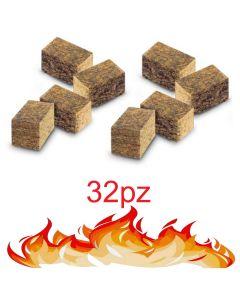 STI Accendi fuoco Cubetti Ecologici inodore non inquina 32 pezzi