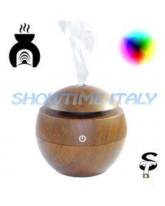 Huggy Diffusore di Aromi Aroma LED Legno Silicone Oli essenziali Cromoterapia
