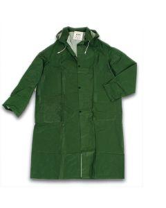Cappotto impermeabile in pvc con cappuccio disponibile nei colori giallo o verde