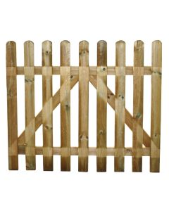 Cancello per recinto steccato staccionata in legno impregnato 100x100 cm Europa