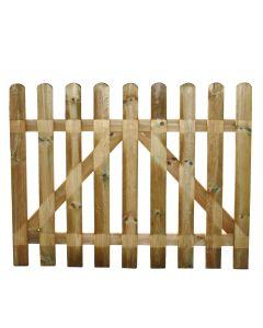 Cancello per recinto steccato staccionata in legno impregnato 80x100 cm Europa