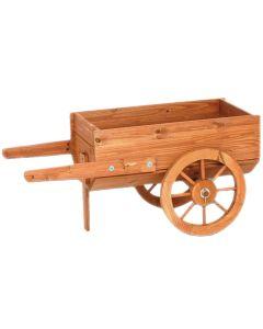Portavaso Fioriera in legno Carriola Carretto 82x42x38
