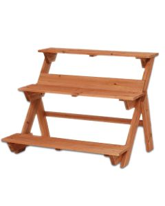 Portavaso Fioriera in legno Scala 3 Livelli