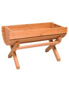 Portavaso Fioriera in legno grigliato a Culla 50x25x35