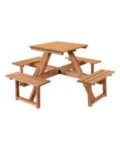 Set da PICNIC Tavolo con panche legno impregnato 170x170x78 alta qualità STI