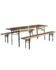 Set da Birreria PICNIC Tavolo + 2 panche legno richiudibile 120x60x76 STI