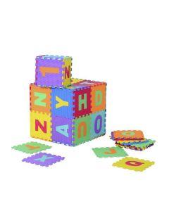 Tappeto Puzzle Eva lettere e numeri Tappetino Gioco bambini set 30x30 36pcs TOP  sp.1cm