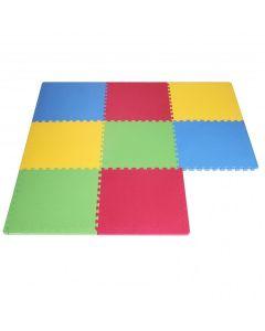 Tappeto Puzzle Eva colori assortiti tappetino gioco palestra casa set 60x60 8pcs TOP  sp.1cm