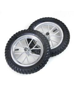 Set Cerchi Completi Gomma Ant+Post Minicross 12 1/2 x 2.75 + Camere Aria