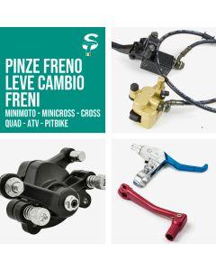 Pinze Freno - Leve Cambio - Freni per Pitbike Minimoto ATV Quad Cross Minicross