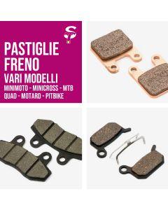 Pastiglie Freno per Minimoto Pitbike Quad Minicross Motard MTB Varie Tipologie