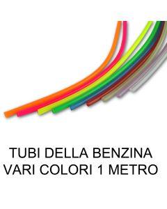 Tubo della benzina Trasparente Vari Colori 1 metro Moto Scooter 4/6mm