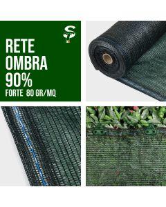 Rete Ombreggiante Ombra Telo Verde Giardino + 90% 1 -6 MT Frangisole Frangivista