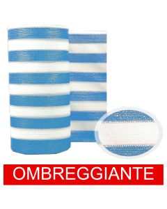 Rete Barrè Telo bianco/azzurro frangisole ombra frangivista 50mt recinzione top