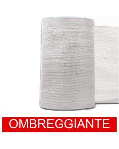 Rete Ombreggiante Ombra Telo Bianco Frangisole Frangivista Recinzione H. 100cm x 50mt