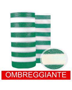 Rete Barrè Telo Ombra bianco/verde frangisole frangivista 85gr recinzione 50mt