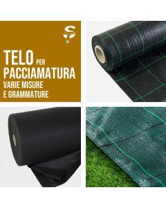 Telo Pacciamatura Varie Misure Drenante Polipropilene fondo Prato sintetico