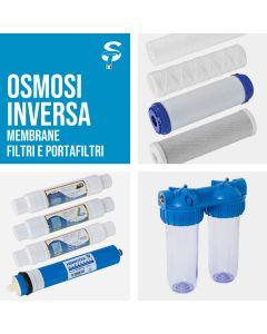 Filtri e Portafiltri per Addolcitori Depuratori Osmosi Inversa Acqua Pura STI