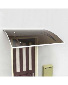 Pensilina Tettoia modulare Kit 150x100cm in Policarbonato Fume' struttura Acciaio