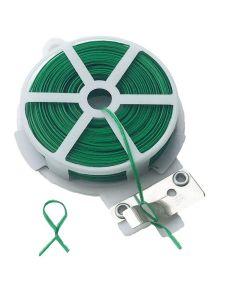 Piattina Agricola PVC anima in ferro verde con taglierina 50 mt