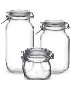 Vaso Primizie Bormioli varie misure in vetro conserve salse alimenti Vasi