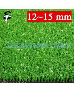 Prato sintetico 15mm calpestabile finta erba tappeto doppio giardino esterno STI