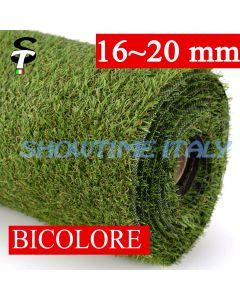 Prato sintetico 20mm calpestabile finta erba tappeto manto giardino esterno STI 2x10mt