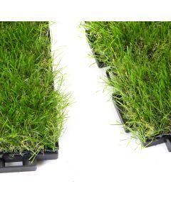 Mattonelle Prato sintetico 30mm 30cm x 30cm 9 pezzi 0,81 metri quadri Click Clack incastro Modulare