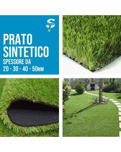 Prato sintetico calpestabile finta erba tappeto manto giardino 4 colori 20 30 40 50mm