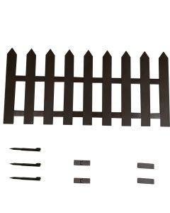 Staccionata per recinto steccato in Plastica Marrone 150X55